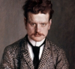 Portrait of Jean Sibelius from 1894 by Eero Järnefelt